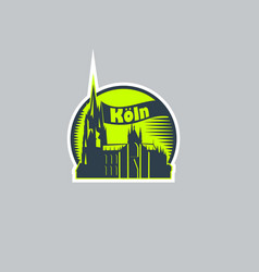 abstract logo sticker city cologne vector image