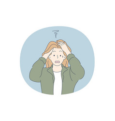 Anxiety stress depression concept vector
