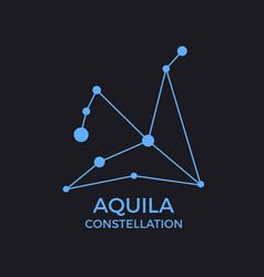 Aquila constellation stars in night sky vector