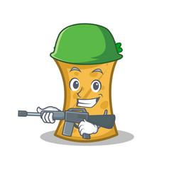 Army kebab wrap character cartoon vector