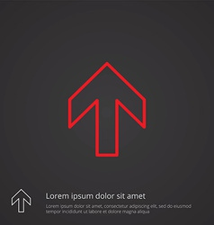 Arrow outline symbol red on dark background logo vector