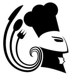 Art chef symbol vector image