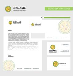 Bacteria on plate business letterhead envelope vector