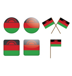 badges with flags of Malawi vector image