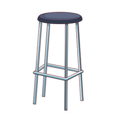 Bar stool icon flat and colorful design vector