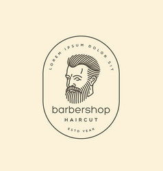 Bearded man logo vector