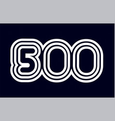 Black and white number 500 logo company icon vector
