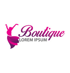 boutique logo design vector image