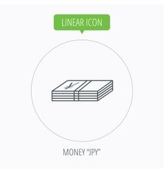 Cash icon Yen money sign vector image