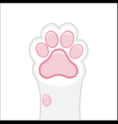 Cat paw background kitten flat design prints vector