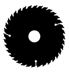 Circular disk icon black color flat style simple vector