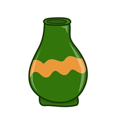 Clay jar vector image