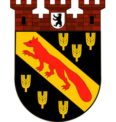 Coat of arms of reinickendorf in berlin germany vector