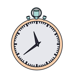 color graphic of simple stopwatch vector image