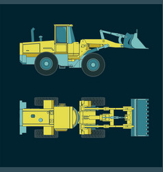 Colorful heavy loader drawings vector