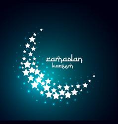 Creative moon design create with stars vector