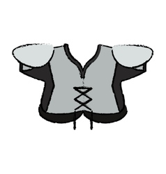 Drawing american football body protection element vector