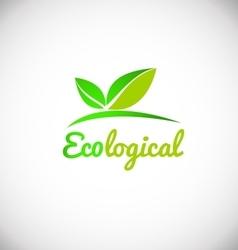 Ecological green leaf logo icon design vector