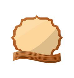 emblem crest blank vector image