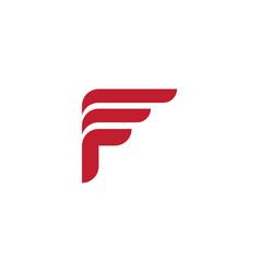 f letter icon design vector image