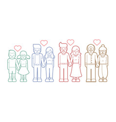 family love people holding handscouple love vector image