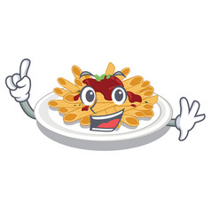 finger pasta isolated with in cartoon vector image