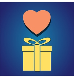 Gift box heart vector