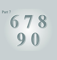 guilloche numbers diploma certificate money vector image