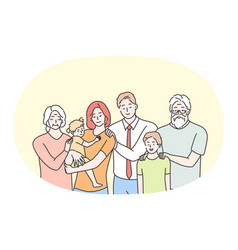 happy family parenthood generations children vector image