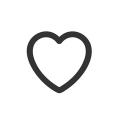Heart icon outline vector