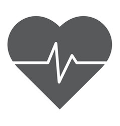 heart rate glyph icon medical and pulse vector image