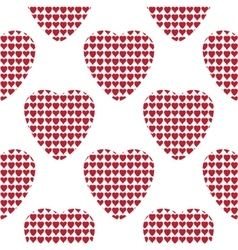 Hearts pattern on white background vector