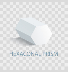 Hexaconal prism geometric figure in white color vector