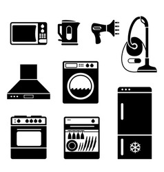 Household icons vs vector