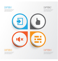 Interface icons set collection of cursor vector