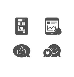 internet report feedback and coffee vending icons vector image