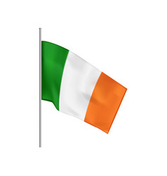 Irish flag realistic composition vector