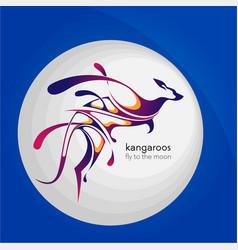 Kangaroo splash creative logo vector