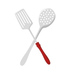 Kitchen dishware isolated flat icon vector