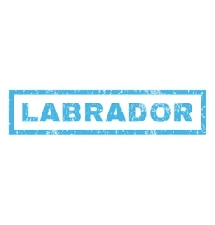 Labrador Rubber Stamp vector image
