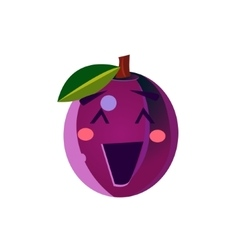 Laughing Plum Emoji vector image