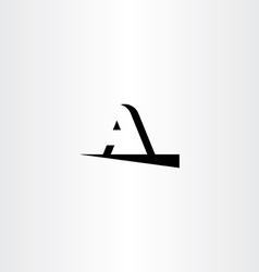 Letter a black logotype icon symbol element logo vector