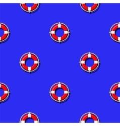 Lifebuoy Icon Nautical Pattern vector image