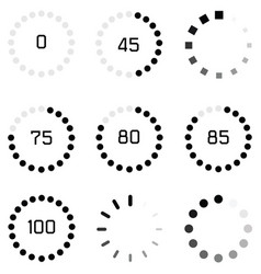 Loading icon set vector