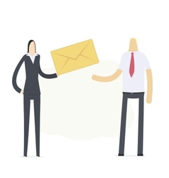 Manager sends an important message vector image vector image