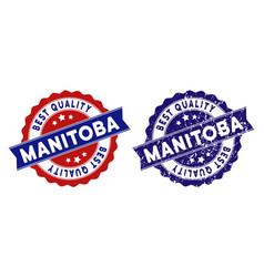 Manitoba province best quality stamp with grungy vector