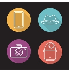 Mens accessories icons vector image