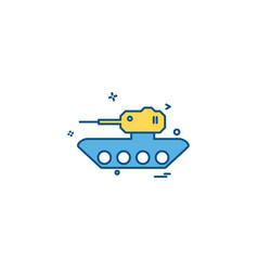 military tank war weapon icon design vector image