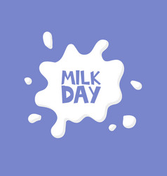 Milk day splash concept card vector