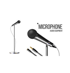 modern microphone with stand performance vector image